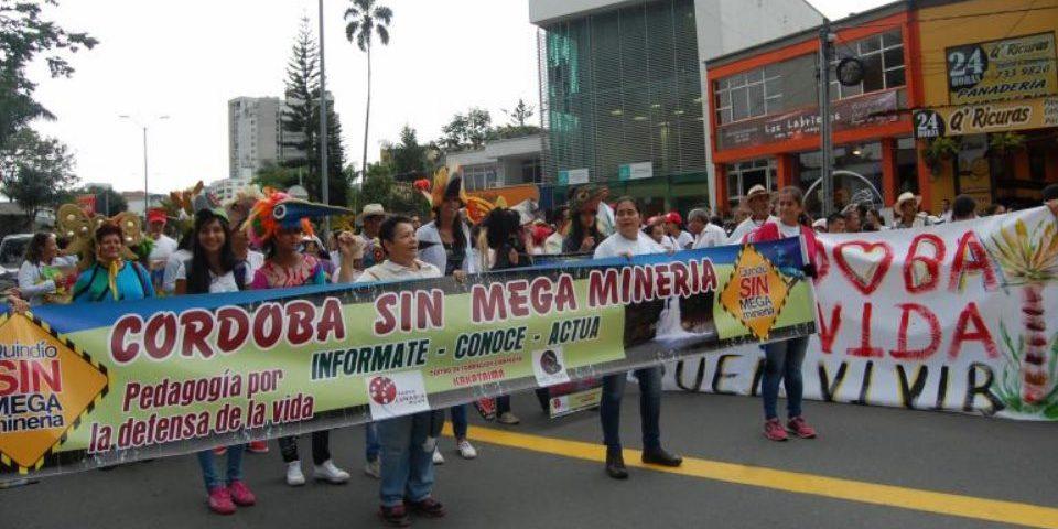Marcharon pidiendo que se realice consulta popular minera en Córdoba Quindío