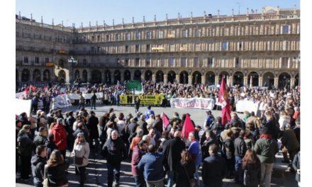 Masiva manifestaciónen Salamanca contra la mina de uranio