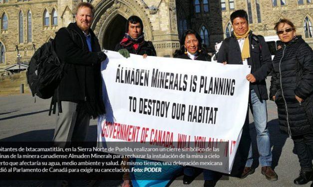 Poblanos piden cerrar mina ante parlamentarios de Canadá