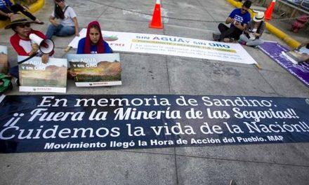 """Protestan en Managua contra la minería industrial: """"Es destructiva"""""""