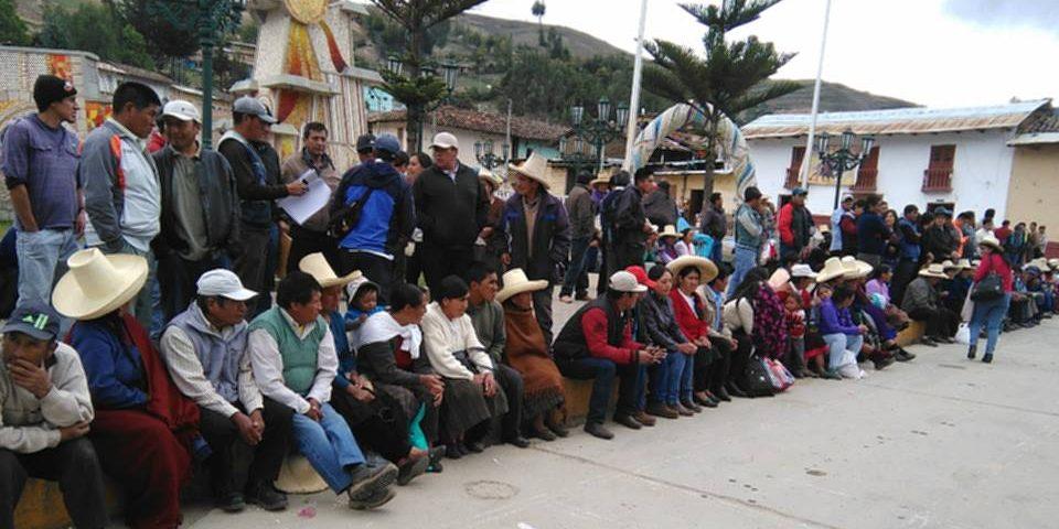 Pobladores se movilizan contra proyecto cuprífero Michiquillay