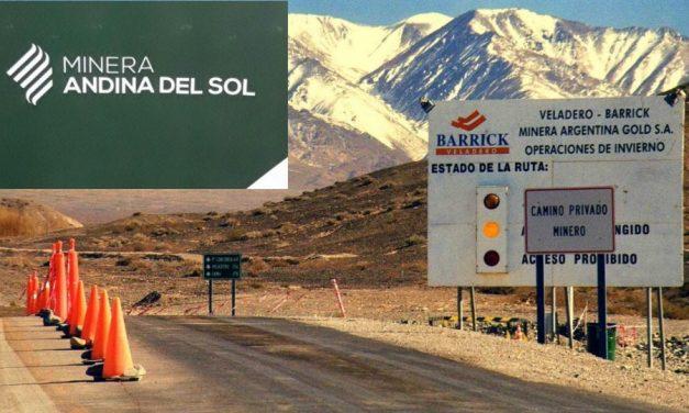 """Barrick y sus socios chinos formaron la """"Minera Andina del Sol"""""""