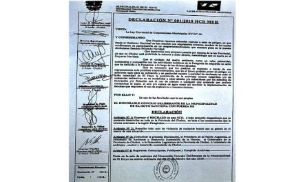 Los concejales de El Hoyo suman su rechazo a la mega minería