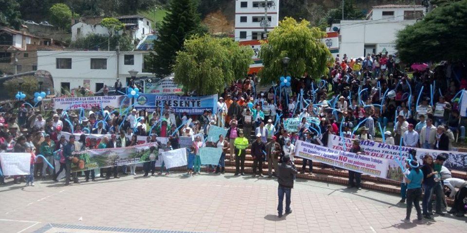 Comunidades protestaron por explotación minera en Santurban
