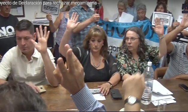 Concejales de Esquel declararon el rechazo unánime a la mega minería en Chubut