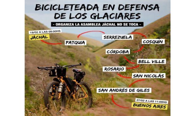 Gran bicicleteada desde Jachal a Buenos Aires para defender la ley de glaciares
