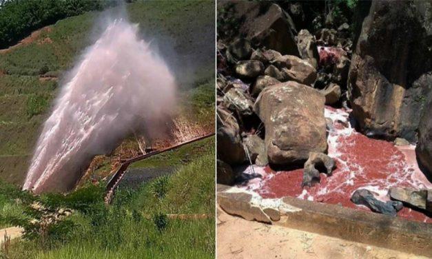 Rotura en mineroducto contamina manantiales que abastecen poblados de Mina Gerais