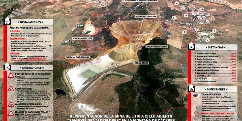 La minera reconoce que el impacto ambiental de su proyecto en Cáceres «es importante»