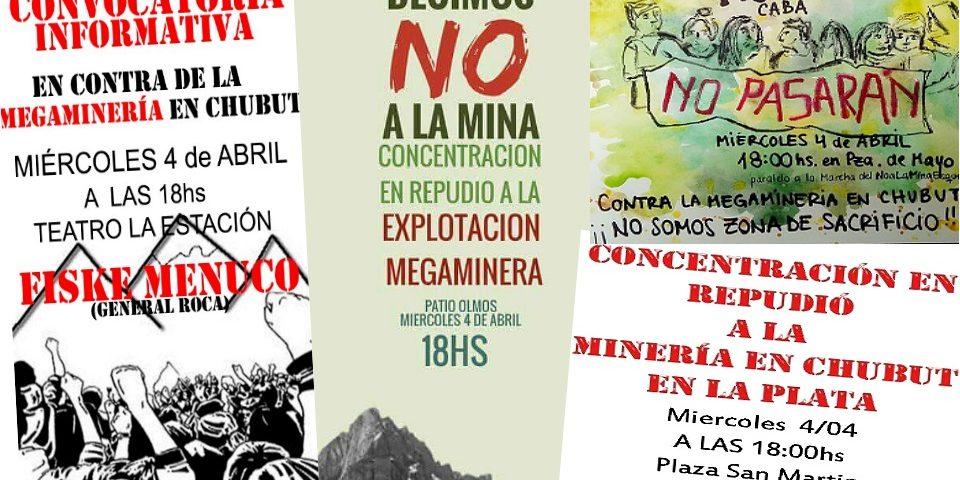 Chubutenses residentes en otras provincias marcharán el 4 en contra de la megaminería