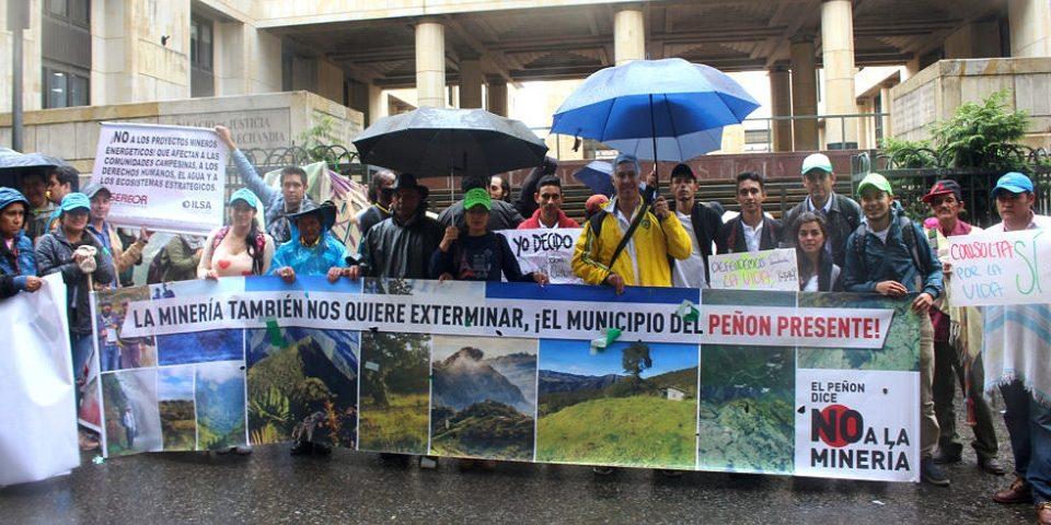 En El Peñón no permitirán que la minería destruya su territorio