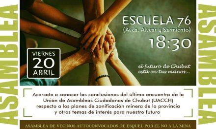 Organización y lucha: Habrá asamblea de vecinos por el NO A LA MINA