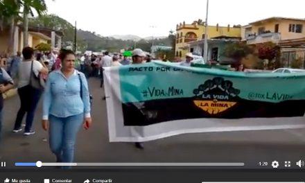 Comunidades clausuran minera a 3 kilómetros de planta nuclear en Veracruz