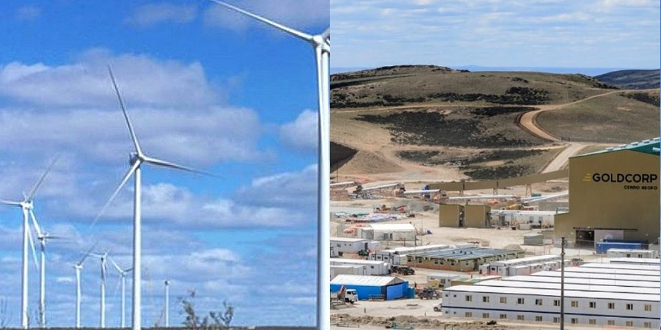 Energía eólica generada en Chubut vendida a la sucia actividad minera