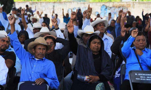 En asamblea, el pueblo de San Juan Mixtepec rechaza a minera