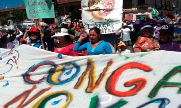 Las mujeres, protagonistas del conflicto contra la minera Yanacocha
