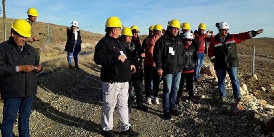 Excursión minera de intendentes y lo que no les contaron en Santa Cruz