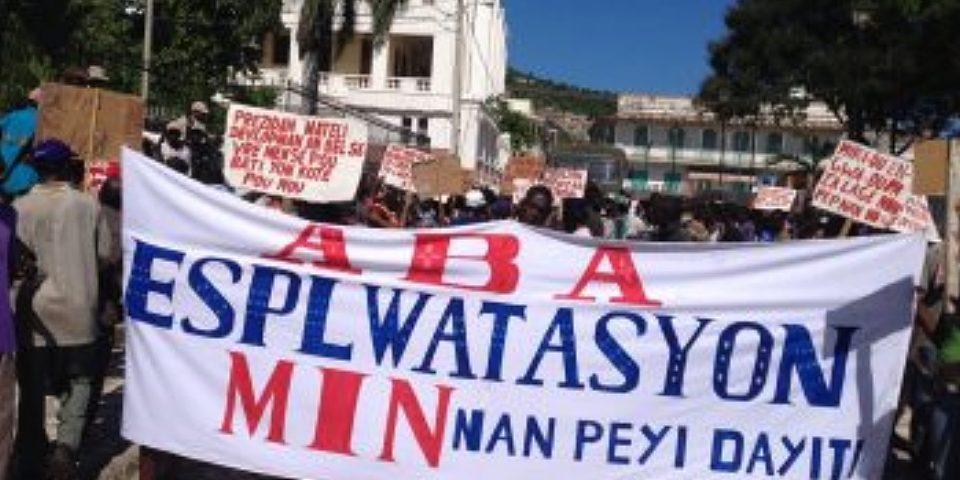 Organizaciones Haitianas exigen detener proyecto de ley minera que favorece a las empresas