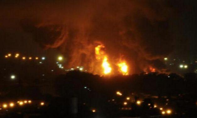 Incendio en un yacimiento de YPF