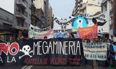 El reclamo contra la megaminería, presente en la marcha educativa nacional