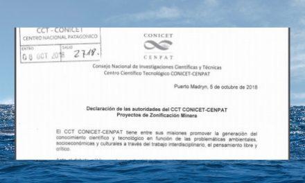 CENPAT-CONICET: zonificación minera y ambigüedad discursiva