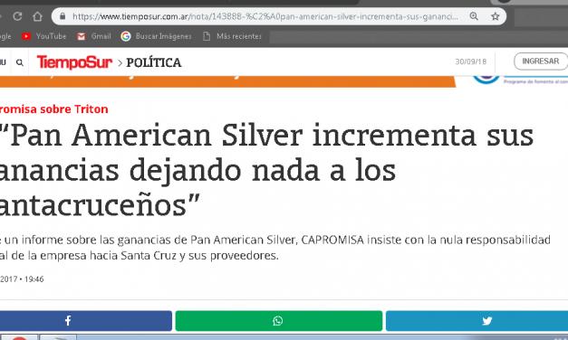 Pan American Silver es la minera más miserable en Santa Cruz